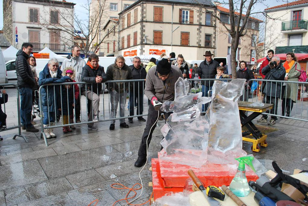 sculpture sur glace avec Martial TEYRASSE