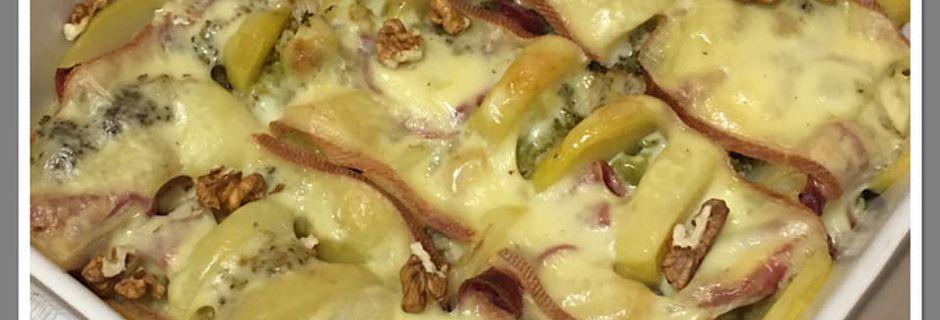 Gratin de brocoli façon raclette