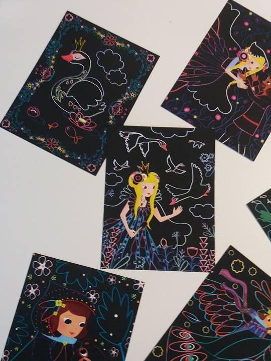 Mon coffret cartes à gratter - Activité enfant - Editions Gründ -