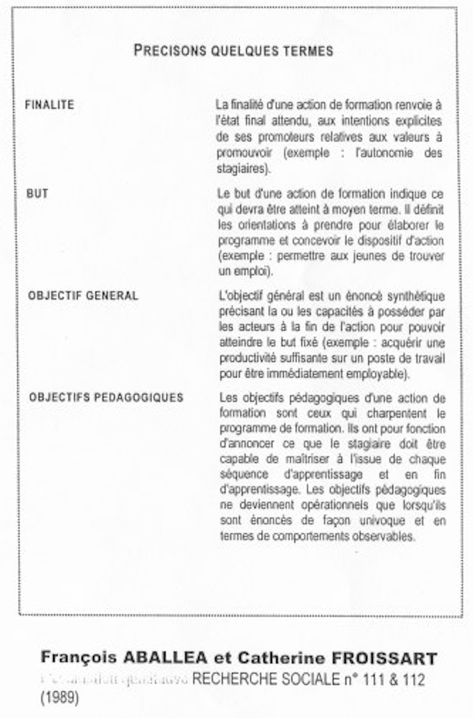 UE 24 version 20-21 : Les didactiques - Analyse des situations de formation