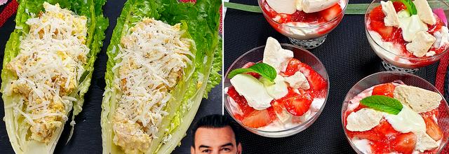 Tous en Cuisine : L'incontournable Salade César et les Etons Mess aux Fraises de Cyril Lignac !