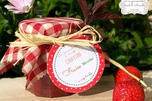 Confiture fraise menthe au sirop d'érable