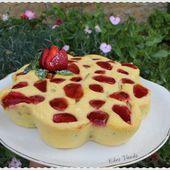 Moelleux rhubarbe fraises (sans farine) - Chez Vanda