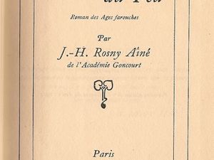 """J.-H. Rosny aîné """"La Guerre du Feu"""" (Nelson - 1937) [Type P.]"""