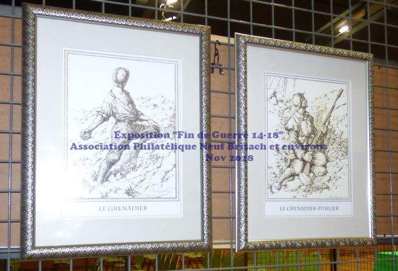 Exposition Fin de la GUERRE 14-18  par l'Association Philatélique de Neuf-Brisach et Environs