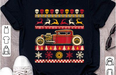 Awesome Rat Rod Ugly Christmas Sweater Party for car lovers shirt