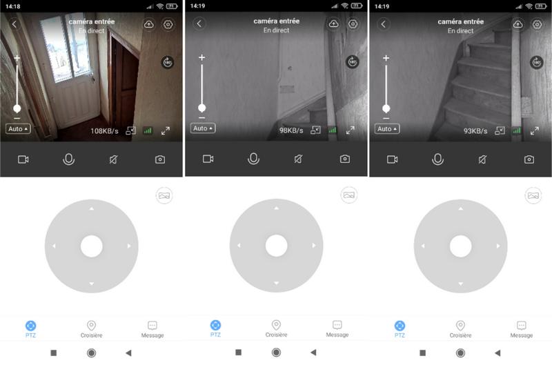 découverte de l'application pour la caméra MECO Eleverde PTZ Outdoor @ Tests et Bons Plans