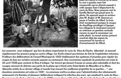 La Mure  : un peu d'histoire en image : la pause autour du tilleul