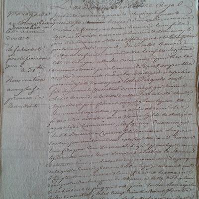 Document : Contrat de mariage BERNARD-DOULET 1751