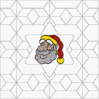Tête Père Noël quiltée