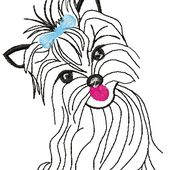 Yorkshire terrier 3 embroidery design