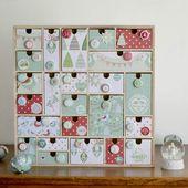 calendrier de l'Avent en bois - Noël - Maman à tout faire