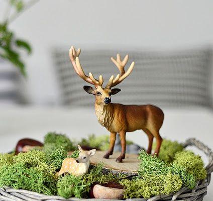 Décoration de table de noel inspiration nature verte