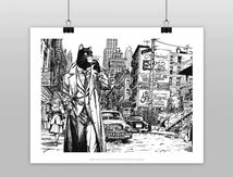 Affiche Blacksad city Black And WHITE Zigzag Editions