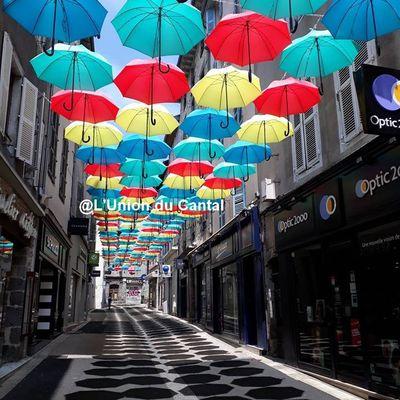 Aurillac, la ville du parapluie