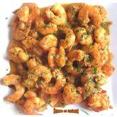 Crevettes asiatiques au beurre et à l'ail - www.sucreetepices.com