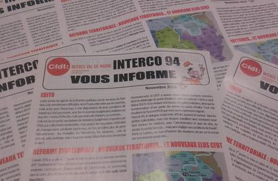 """""""Interco 94 vous informe"""" - numéro de Novembre 2016"""