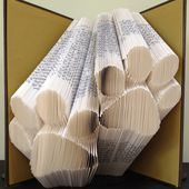 PAW PRINTS - Book Folding Pattern. DIY gift for book art. Template with step by step instructions. Very easy, no measuring required - $2.95 GBP