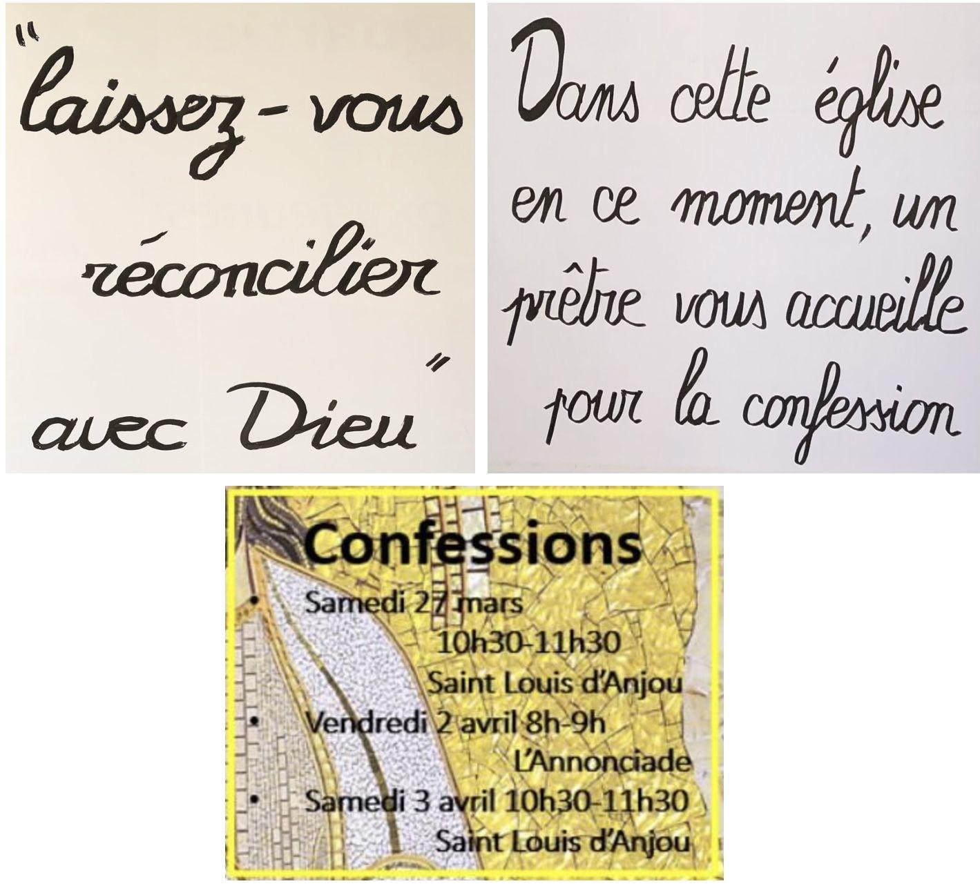 Horaires des confessions