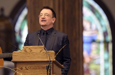 Bono - Funeral for R. Sargent Shriver -Potomac -Maryland -22/01/2011