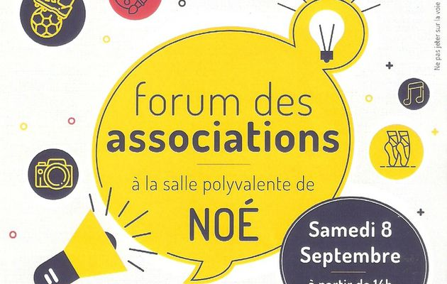 RDV au forum des associations de Noé...