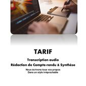 Tarif transcription audio tarif redaction de compte rendu tarif rédaction de synthese