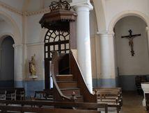 Rénovation de la chaire à l'église