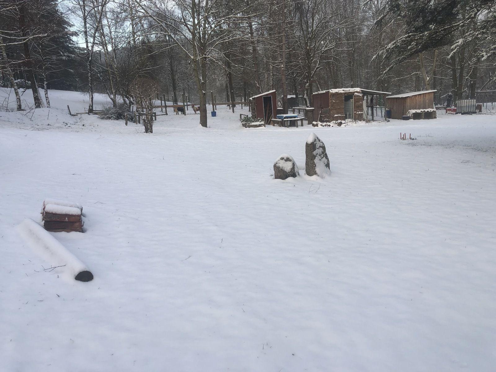 un peu de neige...