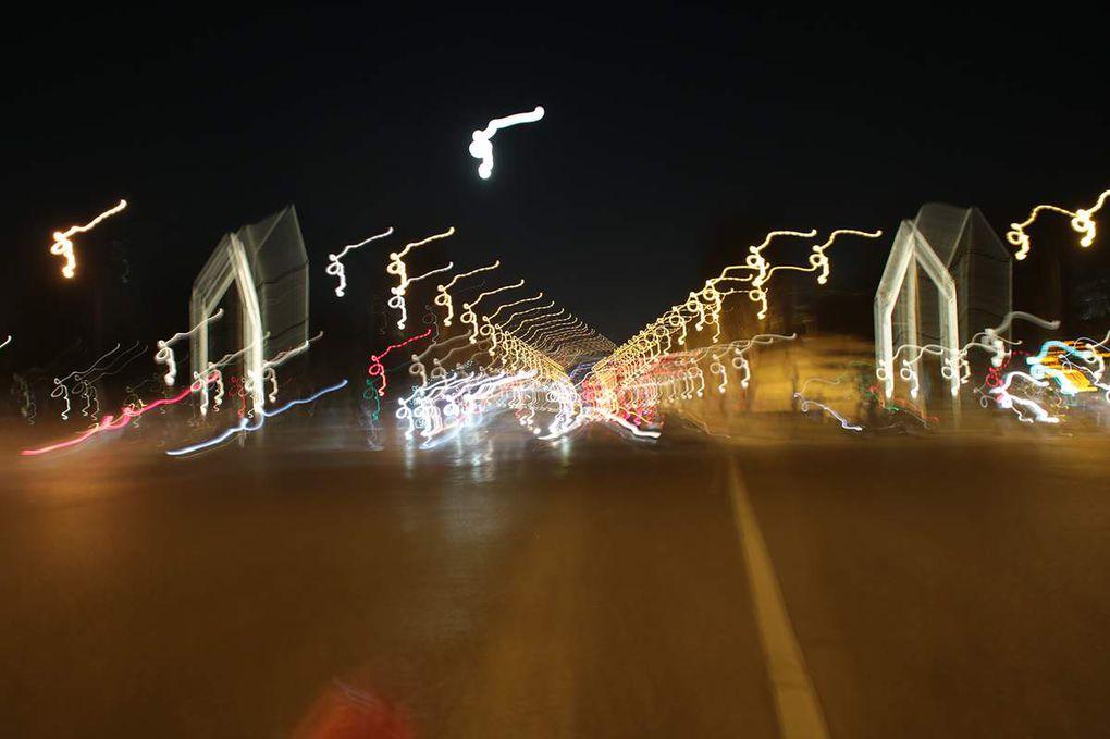 Promenade nocturne sur les champs Elysées