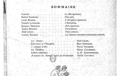 "Jean Clary : critiques de ""La Mort de la Terre"" et ""Les Rafales"" (1912)"