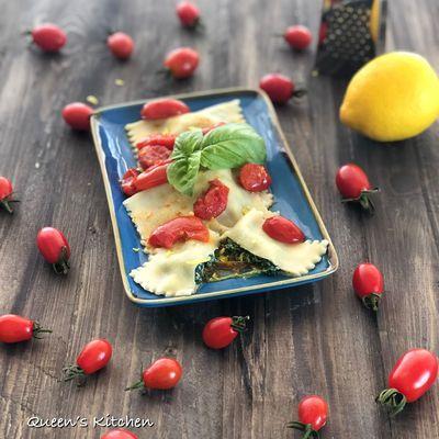 Ravioli con Ricotta Spinaci e Limone