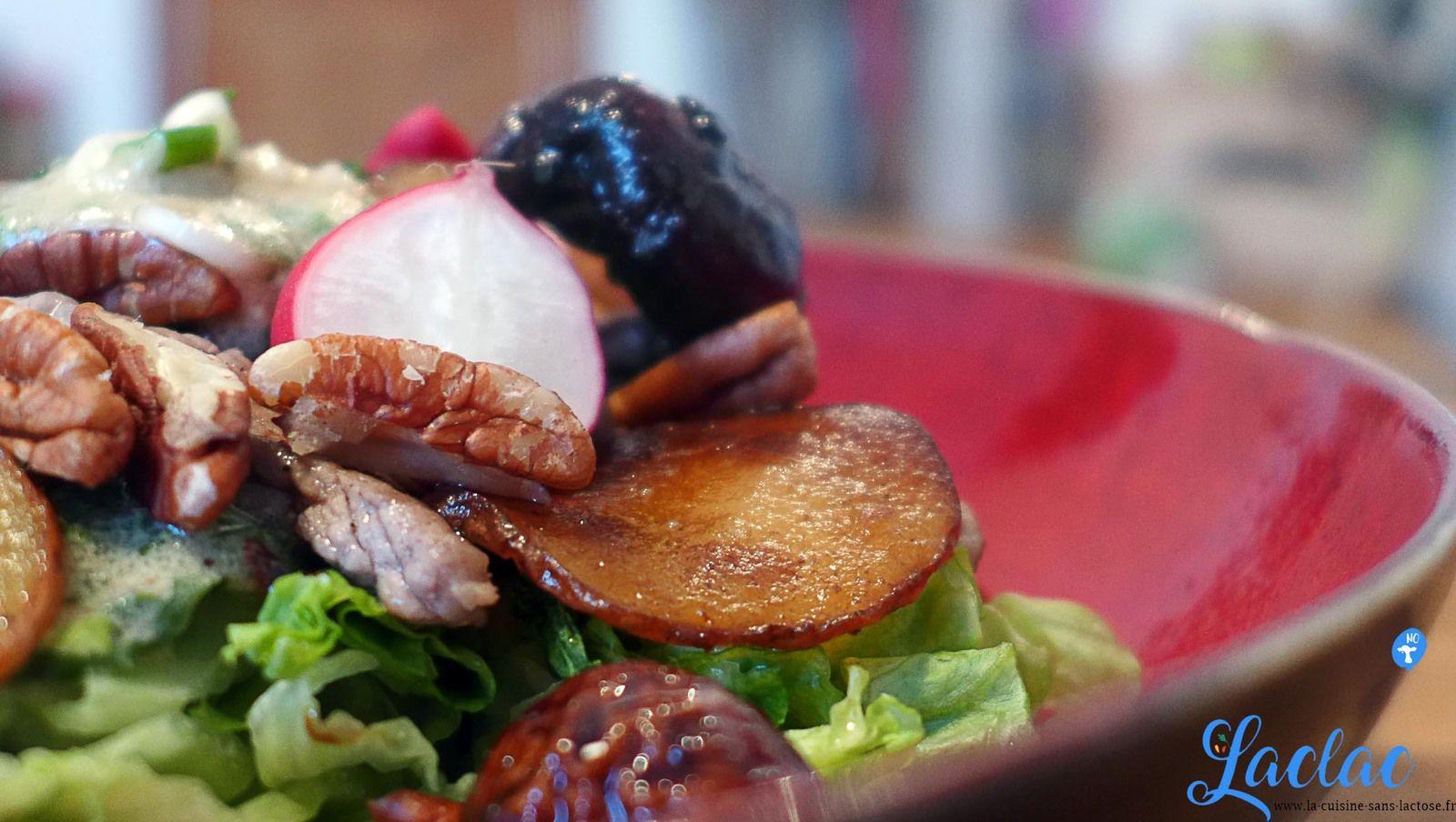 Salade d'Entrecôte, Champignons Confits au Balsamique, Vinaigrette Herbacées !