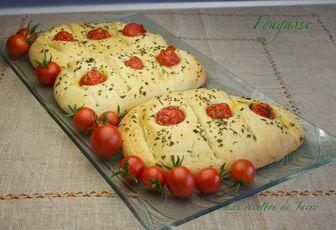 Fougasse aux tomates cerises