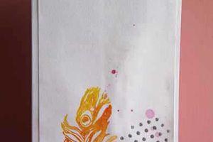 Cartes_Plumes aquarellées_Distress & embossage