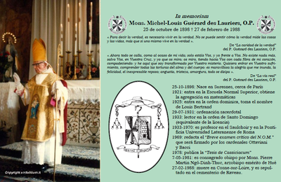 Vida y obra de Mons. Guérard des Lauriers