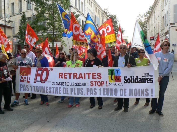 Contre la réforme des retraites, la manifestation du 10 septembre 2013 à Niort