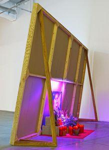 Ecran vidéo Ian Cheng / Biennale d'art contemporain