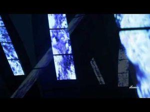 """Mari Verticali"" de Fabrizio Plessi (italie), installation vidéo, 2010."