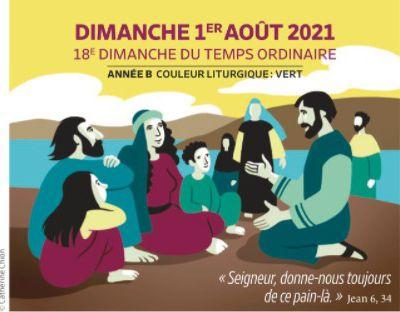 Paroisses de Genlis et Saint Just de Bretenières - Semaine du 31 juillet au 8 août 2021 -  18ème dimanche ordinaire B