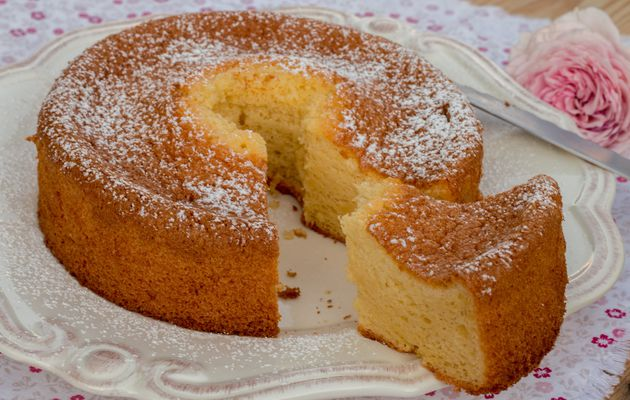 Chiffon Cake à l'orange (au Thermomix ou sans)
