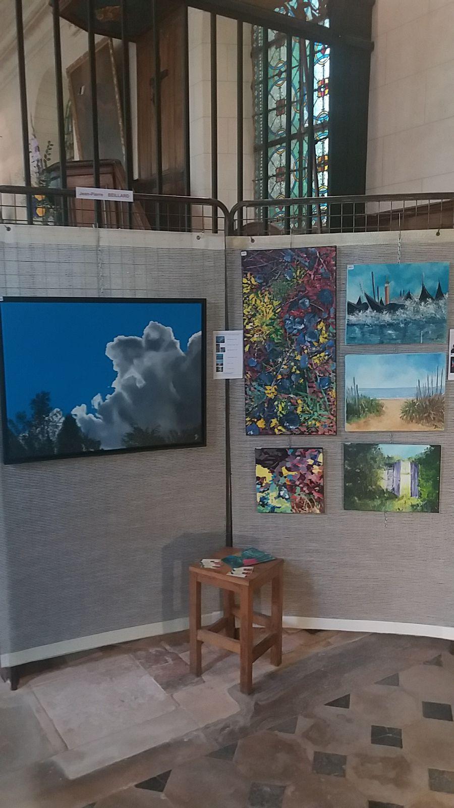 Nivillers, 9ème exposition d'art, Eglise St Lucien, peindre dans la rue, 15 septembre 2019.