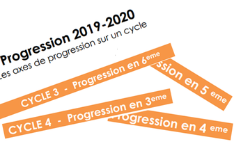 Progressions 2019 en Math pour les cycles 3 et 4 Spiralées à ma façon...