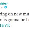 Justin Biebers neues Album : Believe