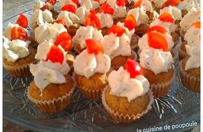 Mini cupcakes au pesto au thermomix ou sans