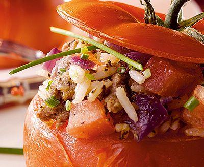 Tomates farcies riz et légumes