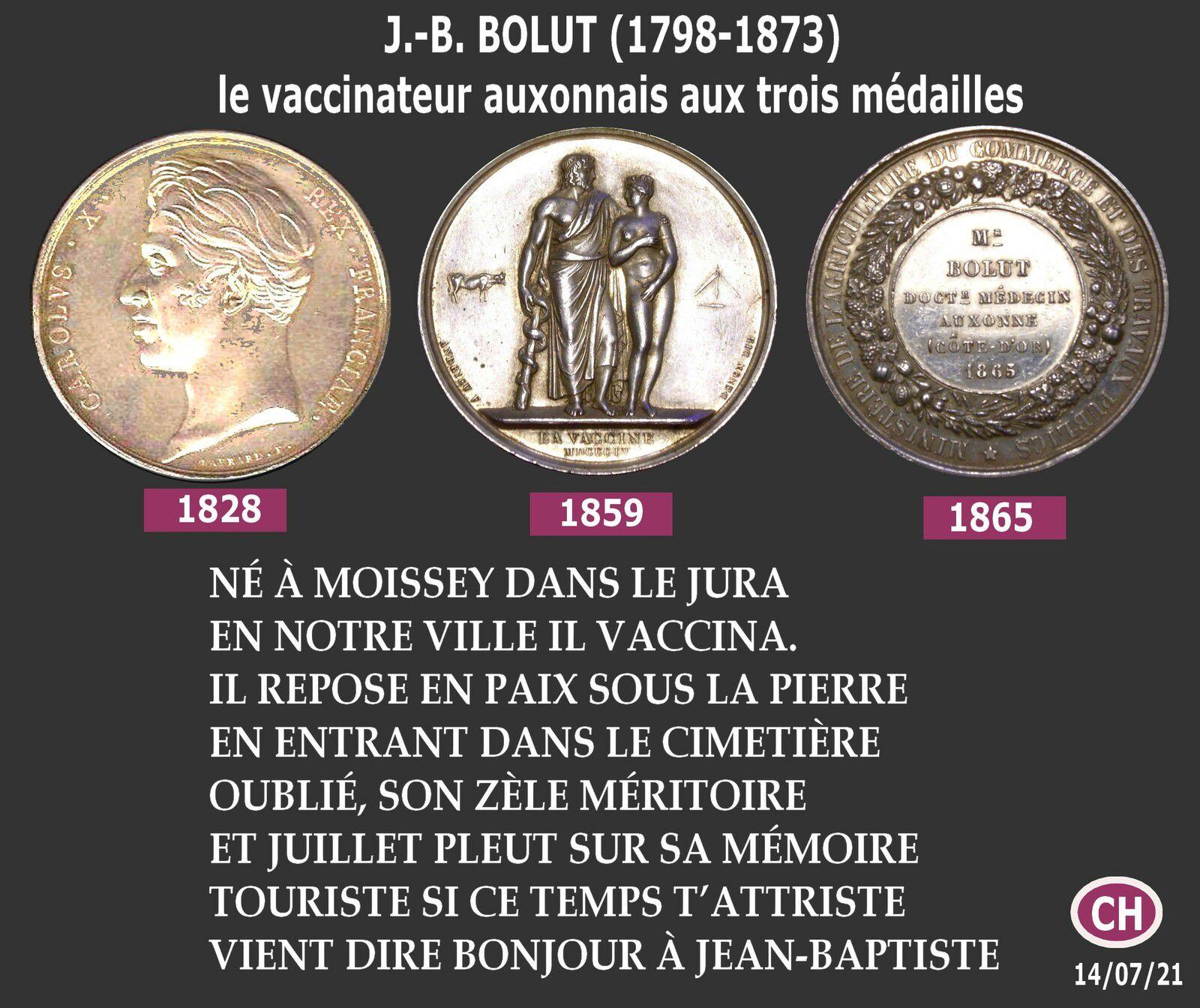 ALBUM « J.-B. BOLUT (1798-1873), le vaccinateur auxonnais aux trois médailles »