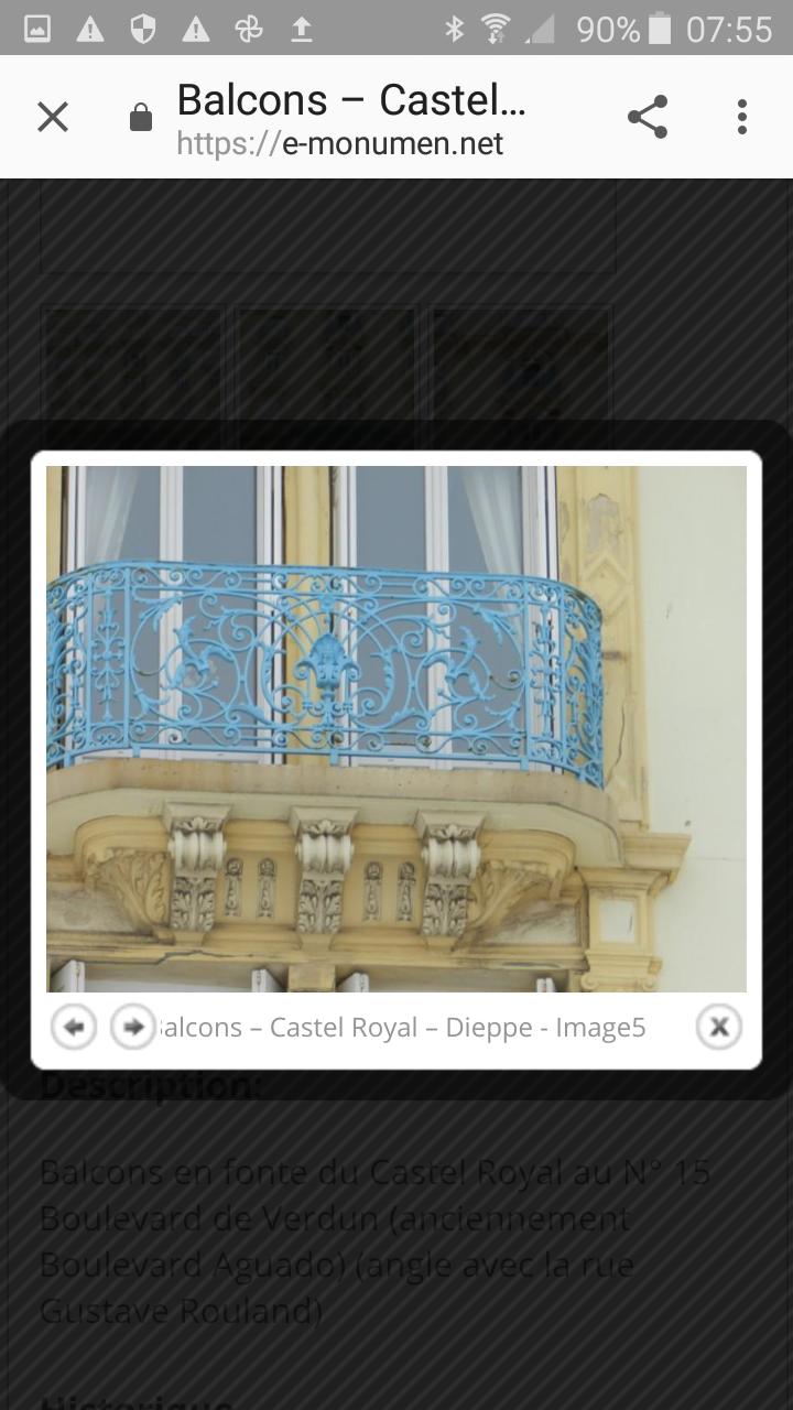 Énième  voyage  dans  le temps : le Castel   Royal à Dieppe , photos  d 'hier  et d 'aujourd'hui  ...