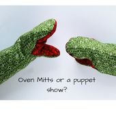 Pinch Grip Oven Mitt Pattern or Puppet Show? - So Sew Easy