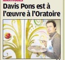 UNE NOUVELLE OEUVRE D'ART DE DAVID PONS POUR L'ORATOIRE