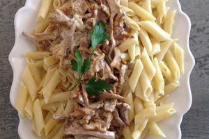 Penne aux girolles